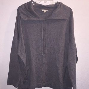 Eileen Fisher Snap Close Organic Cotton Cardigan